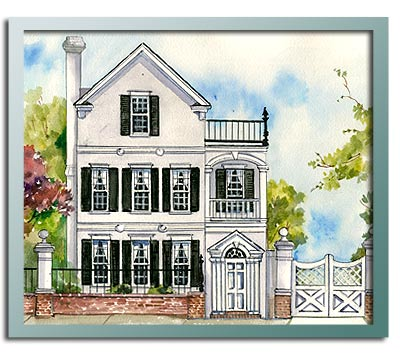 Authentic historical designs llc house plan for Charleston style house plans