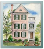 Authentic historical designs llc for Charleston style house plans narrow lots